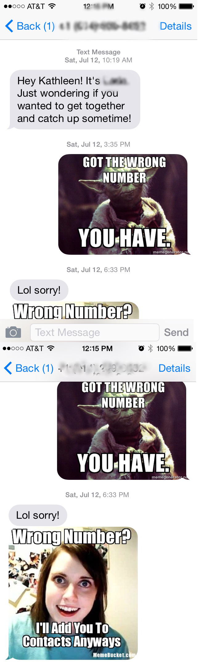 Pics Photos - Funny Wrong Number Text You Know You Want It