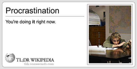 funny-Wikipedia-procrastination-definition