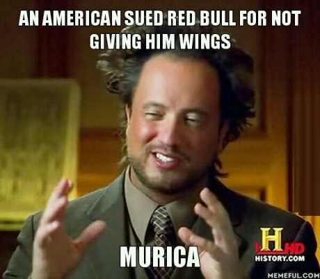 """Red Bull sued because it """"does not give you wings"""""""
