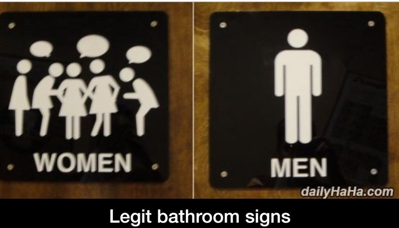 Men bathroom. Women vs  Men bathroom