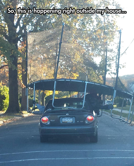 funny-car-carrying-jumping-bed-street
