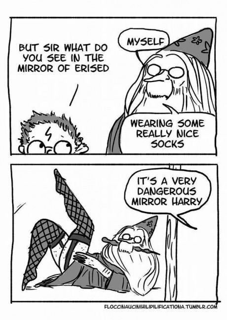 funny-harry-potter-comics-mirror