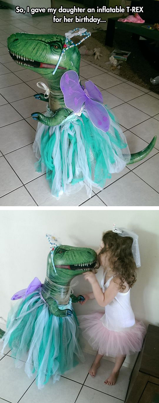 funny-inflatable-T-Rex-toy-daughter-dressed