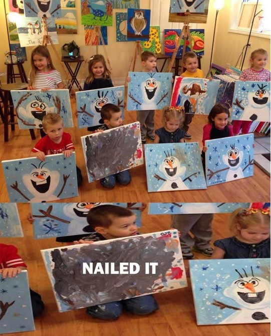 funny-painting-kids-snowman