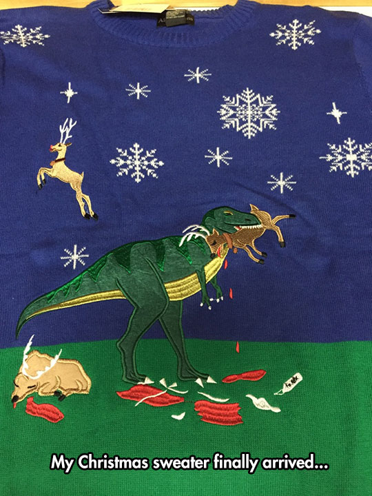 funny-Christmas-sweater-Trex-eating-reindeer
