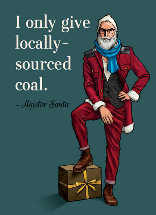 funny-Hipster-Santa-quote-gift-coal