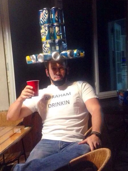 funny-beer-can-hat-Abraham-Lincoln