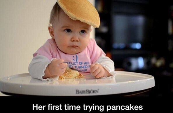 baby-first-pancakes-cute