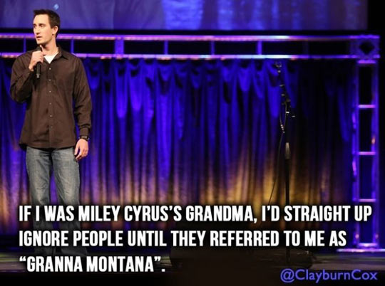 funny-Miley-Cyrus-grandmother-ignore-people