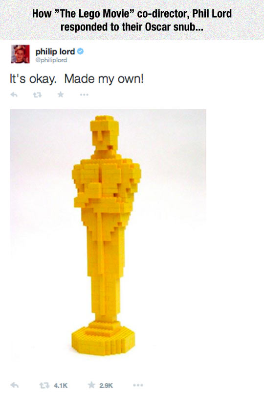 funny-Phil-Lord-Twitter-Oscar-Lego-statue