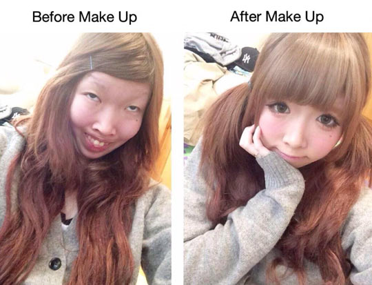 funny-girl-ugly-makeup-beauty