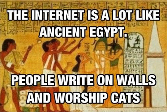 funny-internet-Egypt-walls-writing-cats