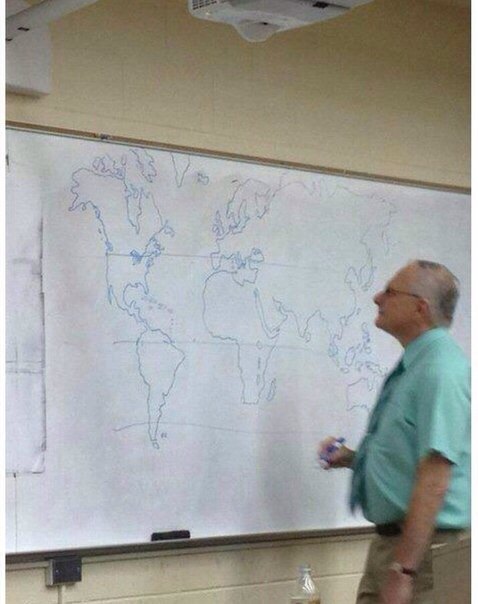 Teacher couldnt find projector and drew a world map himself gumiabroncs Image collections