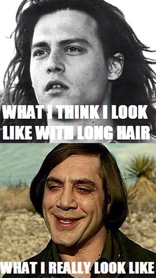 funny-long-hair-Johnny-Depp-Javier-Bardem