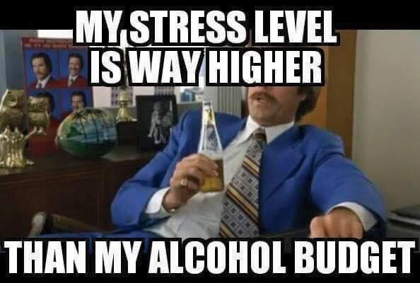 Funny Meme About Stress : Alcohol wanna joke