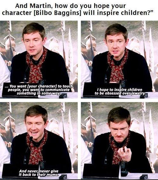 Martin Freeman wants to inspire children