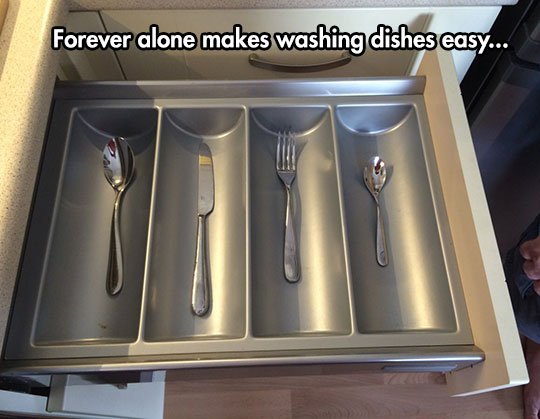 funny-alone-fork-knife-drawer