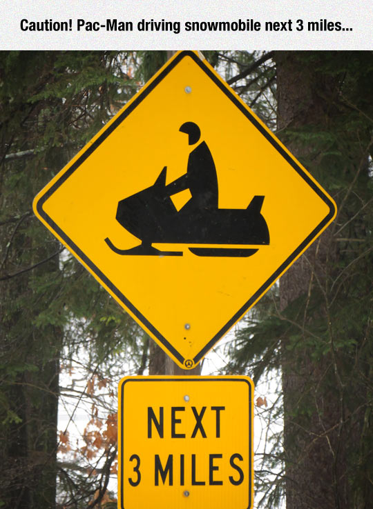 funny-sign-traffic-Pacman-snowmobile
