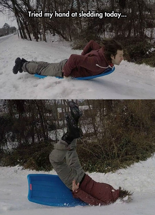 funny-sledding-snow-winter-fall-head