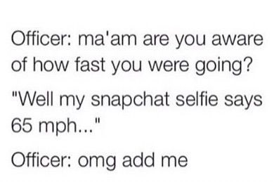 officer-selfie-speed-snapchat