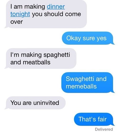 text-dinner-friend-spaghetti