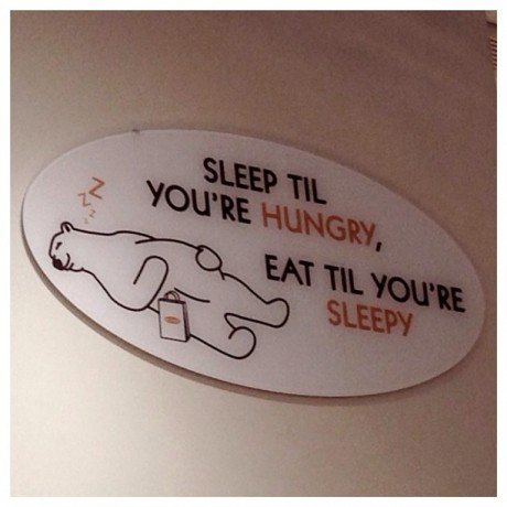 sleep-hungry-eat-sign