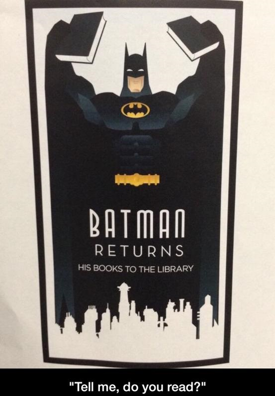 batman-library-books-sign