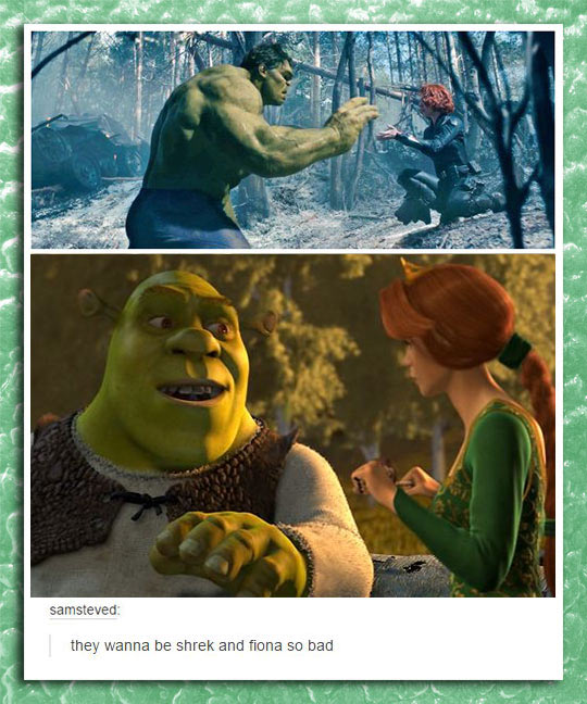 funny-Hulk-Shrek-Black-Widow-same-story