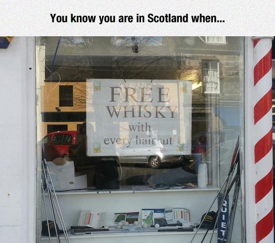 funny-barber-free-whiskey-Scotland
