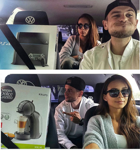 funny-couple-buying-PS4-coffee-machine