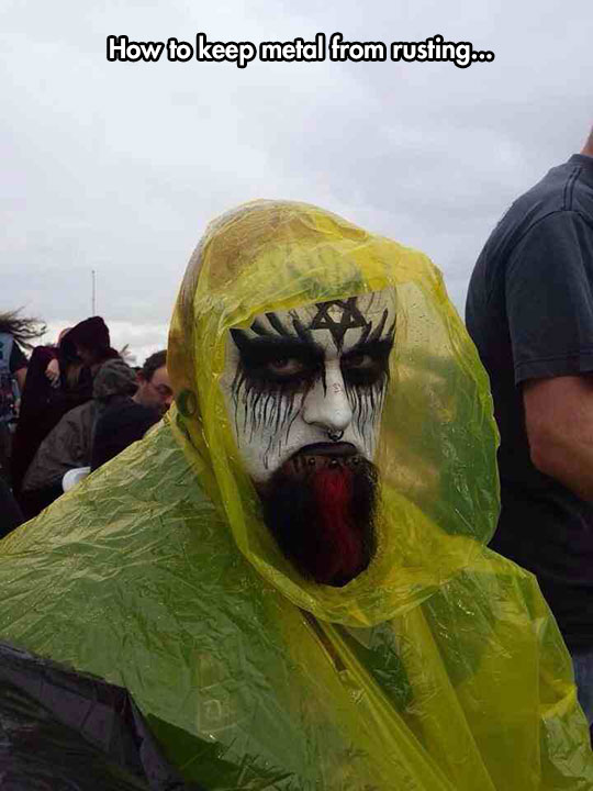 funny-metal-makeup-rain-coat
