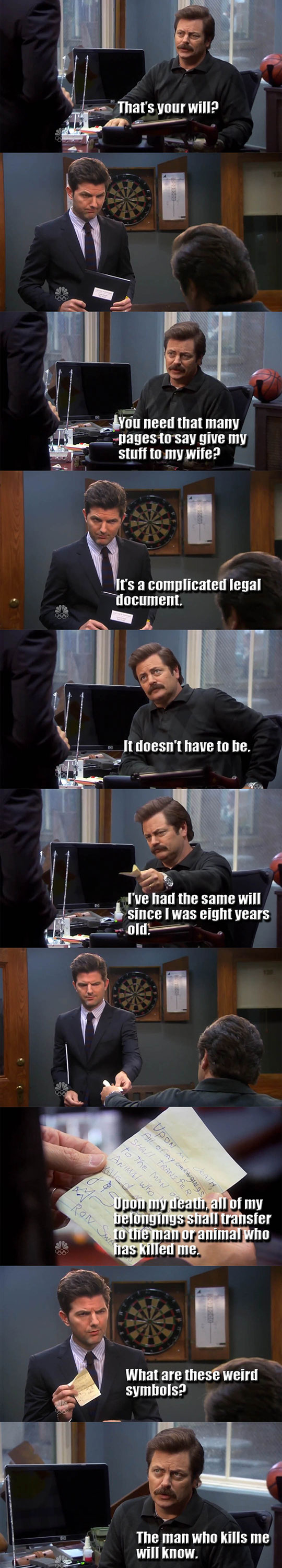 funny-Ron-Swanson-will-paper