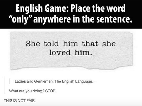 funny-only-game-sentence-English-language