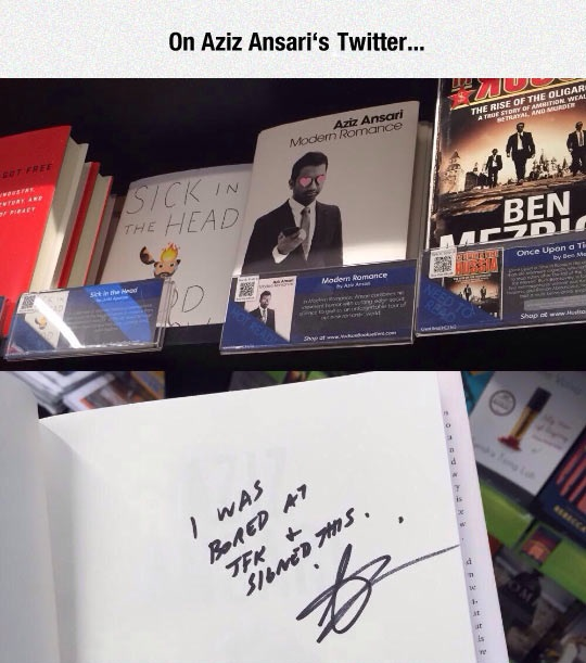 funny-Aziz-Ansaris-Twitter-book-signed