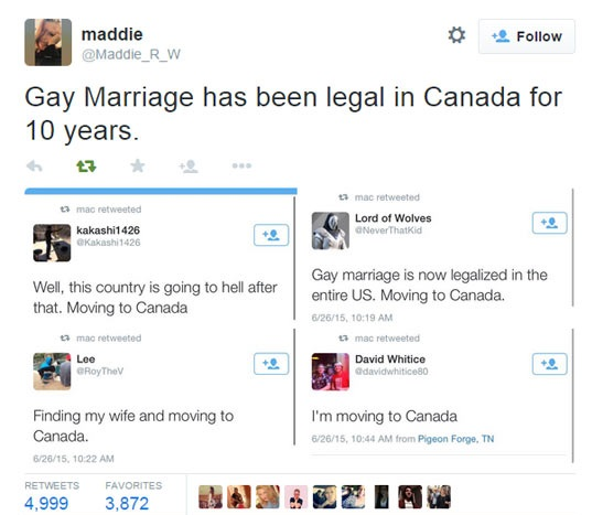 Liberal canada gay marriage