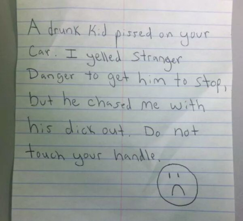 note-car-stranger=danger