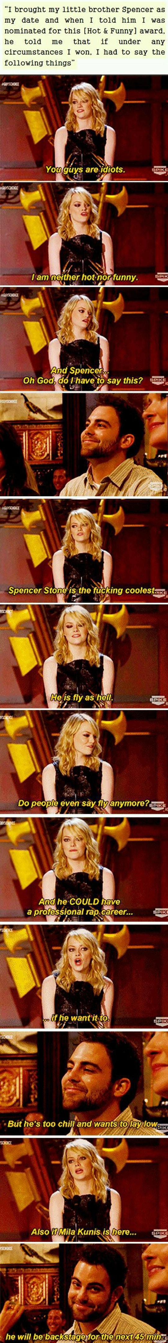 funny-Emma-Stone-award-ceremony-brother