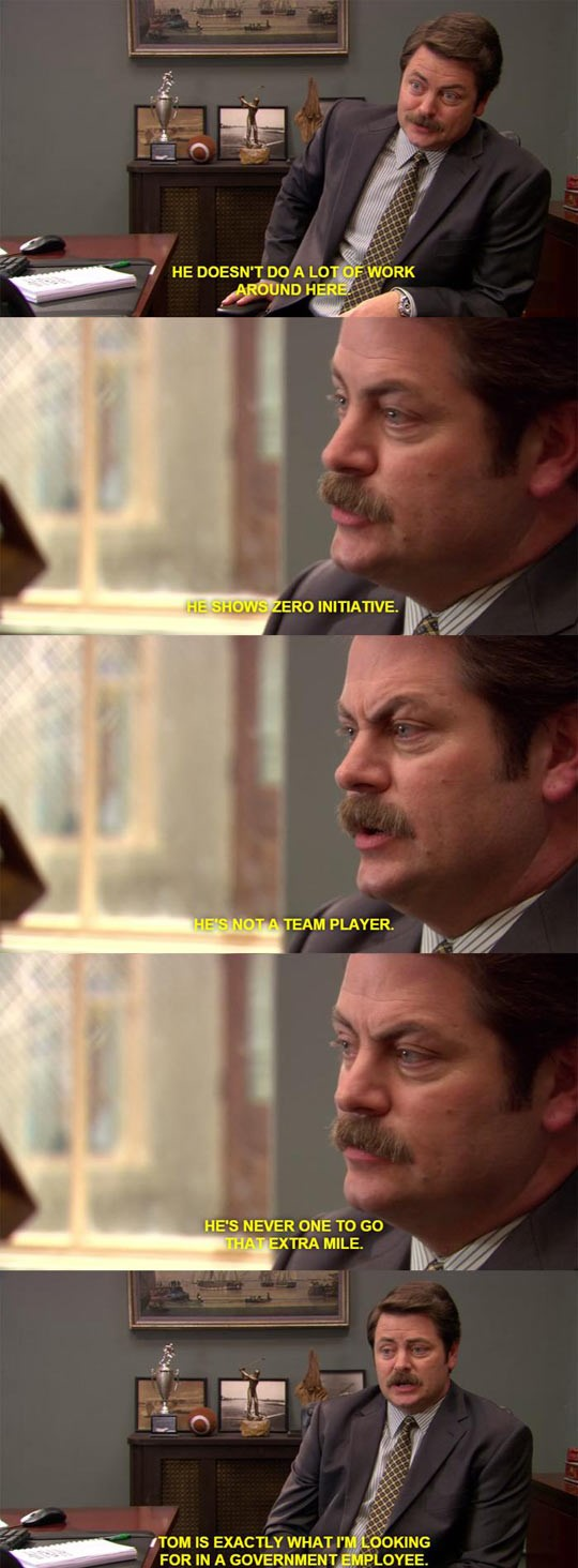 funny-Ron-Swanson-work-suit