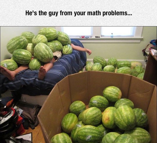 funny-man-sleeping-bed-watermelons