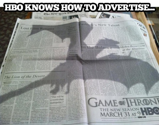 cool-advertisement-HBO-dragon-newspaper