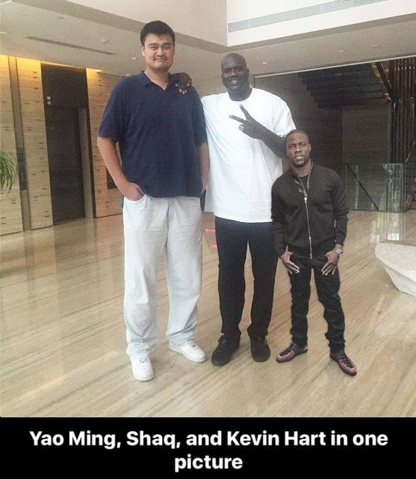 Yao Ming And Shaq Kevin Hart Jokes About...
