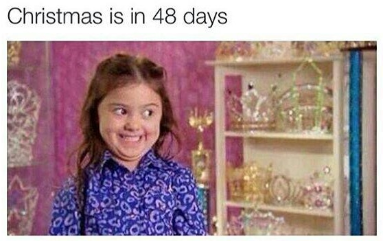 christmas soon girl face meme christmas can't wait