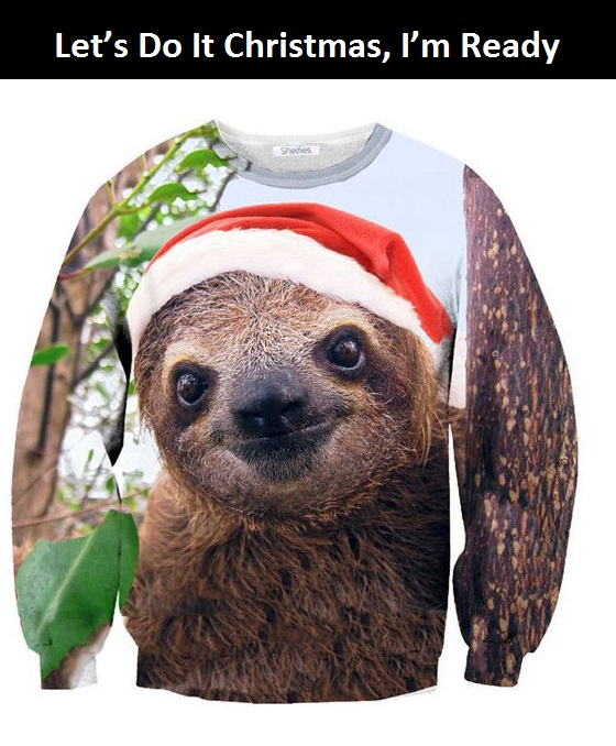 cool-sloth-Christmas-sweater