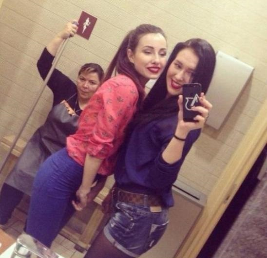 bathroom-janitor-girls-selfie