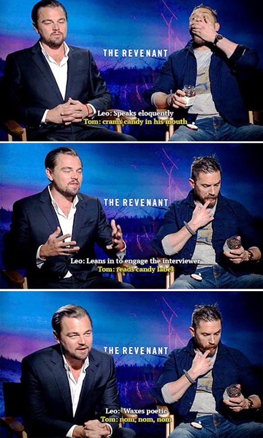 funny-Tom-Hardy-interview-Leo-Dicaprio