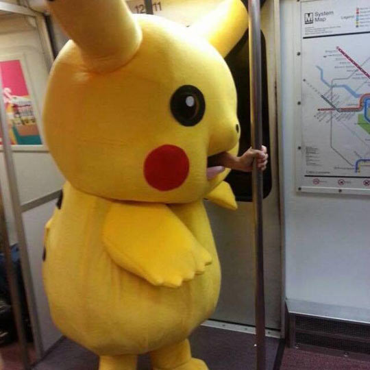 funny-subway-Pikachu-costume