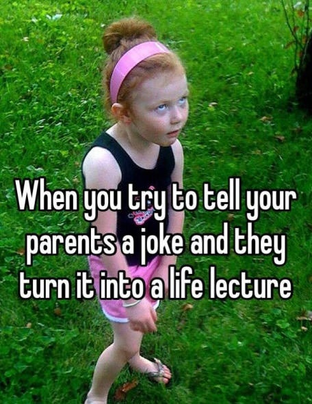 Joking with parents