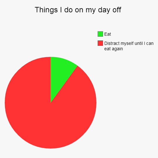 cool-pie-chart-eat-day-off