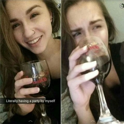 party-alone-girl-wine