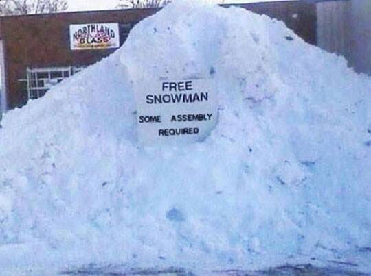 cool-sign-snow-assembly-snow-man